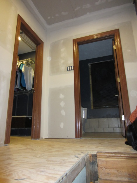 Closet and bath door casing details