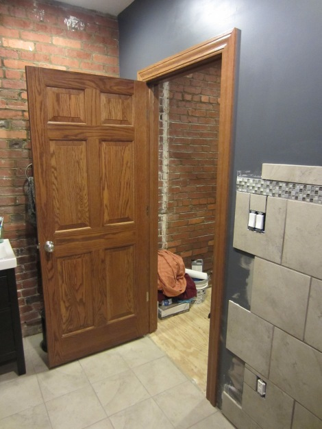 bathroom oak door