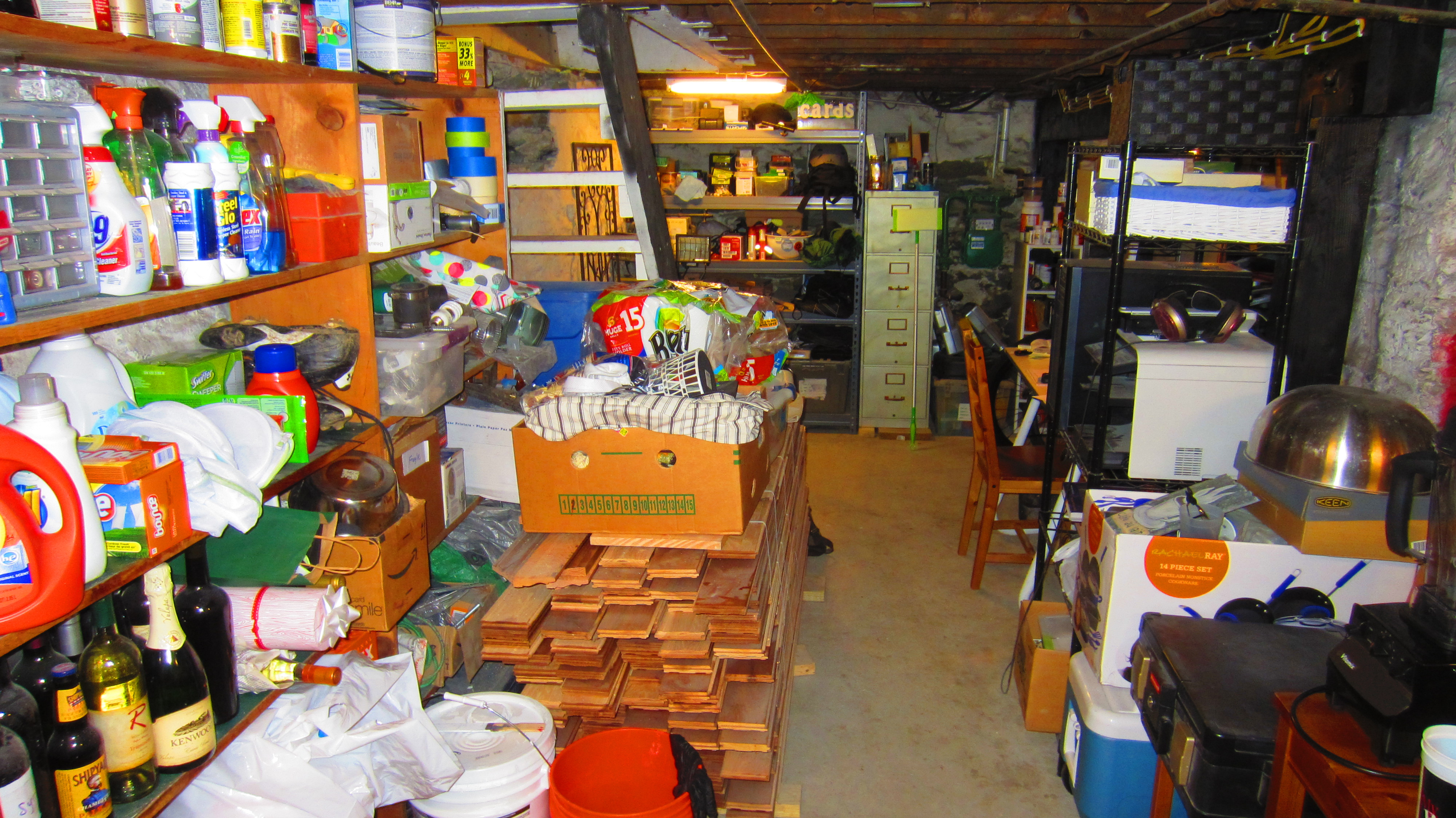 A Working Basement fice Storage Area