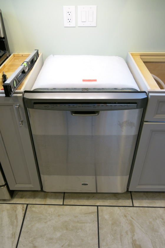 Countertop Dishwasher Hookup : Quartz Countertop & Dishwasher Installation DESIGN BUILD RESIDE