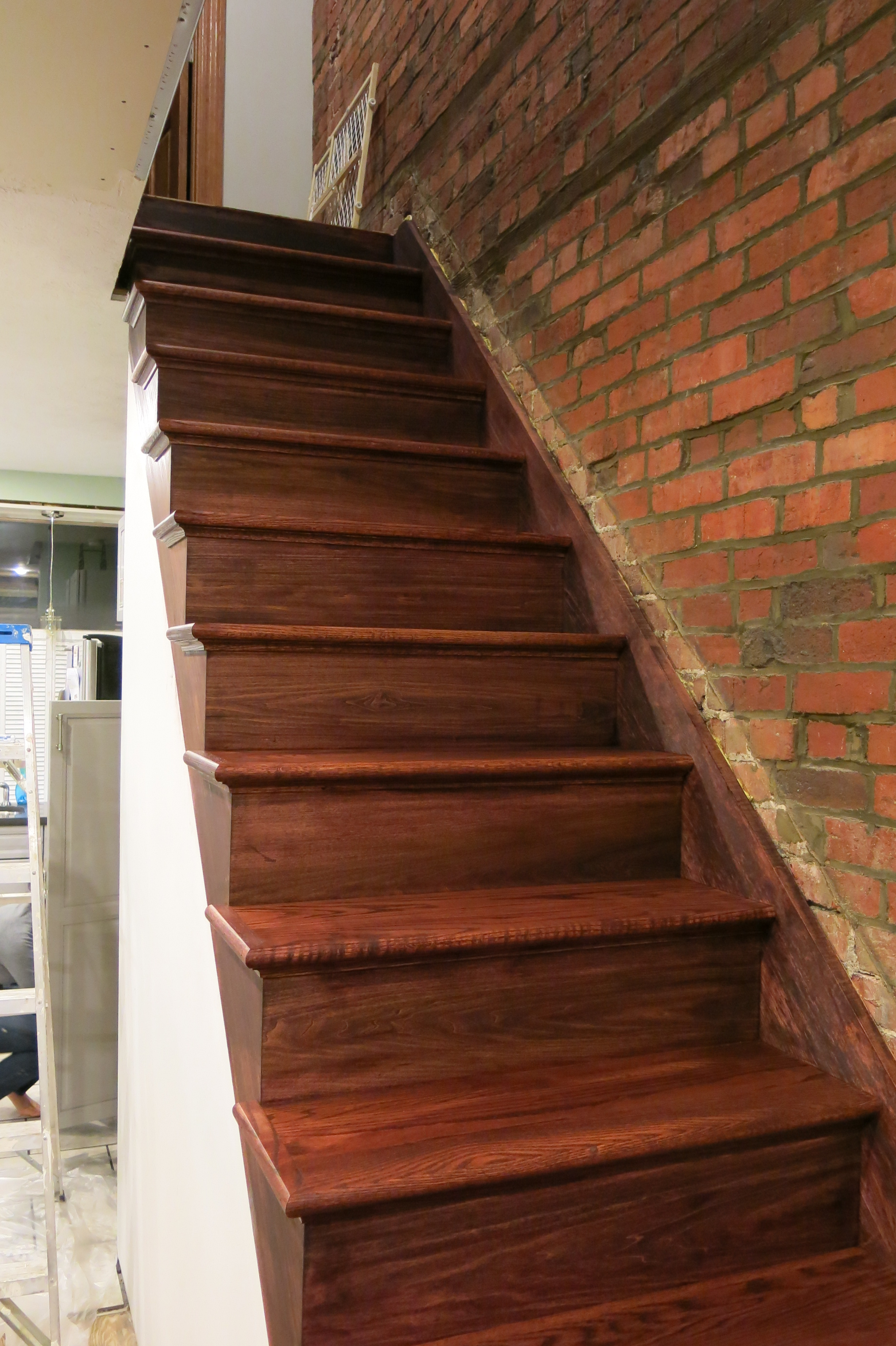 Staining The Stairs DESIGN BUILD RESIDE